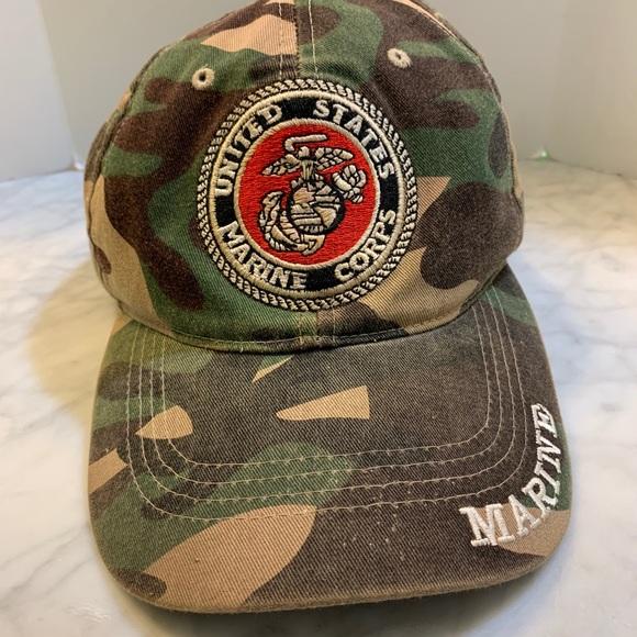 Vintage Marines USMC Camo Ball Cap Hat